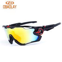 gafas de montaña al por mayor-Brand Sport Sunglasses Polarized Cycling Sunglasses For Men Mujeres Gafas Mountain Bike Bicycle Run Eyewear con 3 lentes y caja de alta calidad
