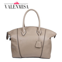 Wholesale Tote Bag Designer Celebrities - Wholesale- Lock Celebrity Soft Genuine Leather Bags Famous Designer Brand High Quality Shoulder Bags Women Messenger Bags Luxury Large Tote