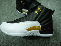 Wholesale Wing Flats - with douboe box 12 wings men Basketball Shoes AAA+ quality Discolor Gold Wings Black Golden mens Sports shoes Sneakers eur 41-47