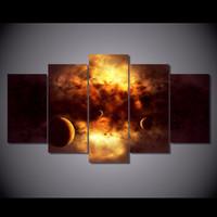 nackte leinwanddrucke großhandel-5 Teile / satz HD Gedruckt Raum Wolken Malerei Leinwanddruck raumdekor poster drucken bild leinwand nackte wandkunst