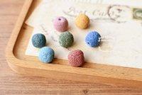 ingrosso pietre preziose per collane-14mm Natural Lava RockRound Branelli Allentati Colorati Lava Rock Pietra Gemstone Semi Preziosi Perle di Pietra Per Braccialetto DIY Collana D209S