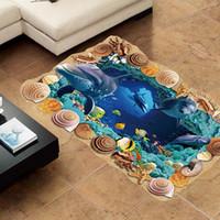 Wholesale Vinyl Floor Designs - Wall Stickers Syene 3D Cave world Floor Wall Sticker Removable Mural Decals Vinyl Living Room Decor Mural Wallpaper Home Decor