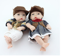 Wholesale Silicone Dolls For Sale - New 28cm 2pcs lot silicone reborn baby dolls toy for sale, the best birthday gift for child baby kid, girl brinquedos