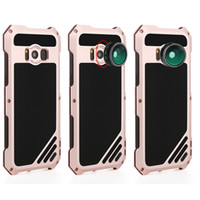 Wholesale Galaxy Lens Kit - For Samsung Galaxy S8 Lens Kit Case with IP54 Dustproof Shockproof Rose Gold Aluminum Case for Galaxy S8