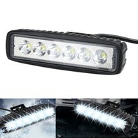 Barato Trailers-18W Flood LED Luz de trabalho ATV Off Road Light Lamp Fog Driving Light Bar para Offroad SUV Car Truck Trailer Tractor UTV Vehicle