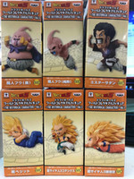 En gros 6 pcs / lot WCF Dragon Ball Z dragonball végéta son goku piccolo PVC Action Figure Jouet