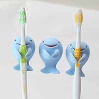 Wholesale Tooth Brush Rack - Dolphin Toothbrush Holder Creative Home Furnishing Shaver Rack Cute Cartoon Tooth Brush Tumbler Bath Tool Hot Sale 2 7rq F