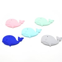 Wholesale Green Food Grade Silicone - Baby Teether Silicone Whale Teether 6pcs Food Grade Can Chew DIY Crafts Nursing Toys Teether Pendant For Necklace BPA Free