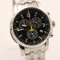 Wholesale Wrist Clocks - Hot sale Wholesale free shipping AAA quality men quartz clock watch T Race movement wrist watch stainless steel silver wrist mens watches