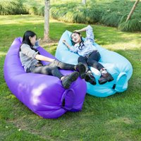 outdoor day beds - Fast Inflatable Sofa Air Sleeping Bags Beach Lounger Hangout Couch Portable Camping Hiking Beds Lazy Outdoor Beach Lay Chairs oth238