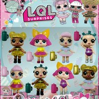 Wholesale Big Dresses For Girls - Christmas gift Wholesale Girls dolls LOL Surprise Lil Sisters dolls Kids toys 45+ collect Dress up Series LOL surprise dolls for girl