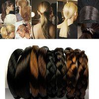 Wholesale Yoga Hair Ties Wholesale - 2017 Women Hair Accessories Ladies girls Hairbands Yoga Ponytail Band Synthetic Straight Hair Braid Hair Ties
