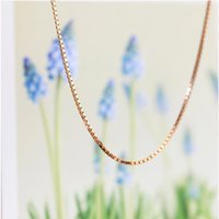 "Wholesale Top Quality Costume Jewelry - Top Quality 18K Rose Gold Plated 45cm 18"" Wide 1mm Slim Box Chain Necklace for Pendant Fashion Party Costume Jewelry Best Gift"