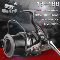 black sea surfing - Lizard size full metal spool Jigging trolling long shot casting for carp and salt water surf spinning big sea fishing reel