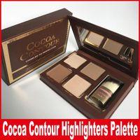 surligneurs pour le visage achat en gros de-Cacao Contour Kit Surligneurs Palette Nu Couleur Cosmétiques Maquillage Correcteur Maquillage Ombre À Paupières Au Chocolat avec Contour Buki Brush