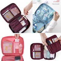 Wholesale Wholesale Travel Brush Sets - New Fashionable Travel Makeup Brush Set Tools Make-up Waterproof Toiletry Kit Outdoor Sport Vacation Bag Stuff Sacks Case Oxford Packs