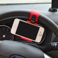 Wholesale steering wheel mounted cell phone mount online – Multi functional Mobile Phone Holder Car Steering Wheel Mount Phone Clip Buckle Socket for iphone Smart Cell Phones