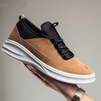 Wholesale Thick Sole Casual Black Shoes - Men Casual Shoes 2017 Fashion Thick Soled Male Shoes Spring Flock Non-slip Comfortable and breathable Walking Shoes