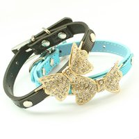 armipet Rhinestone Bow Dog Collar para cães Leashes Collares Leash 6041002 Pet Puppy Acessórios XS / S / M