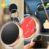 Wholesale Mini Tablet Bag - Universal Flat Stick Car Magnetic Mobile Phone Holder with opp bag for iPhone 6 7 Plus Samsung s7 s8 s8+ Mini Tablet Car Steering Dashboard