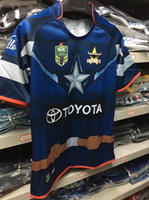 Wholesale Black Cowboy Shirt - 2017 2018 Queensland Cowboys rugby jersey home and away Cowboys NRL rugby Jersey men shirts free shipping