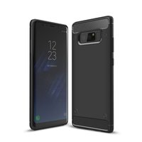 Wholesale Iphone Anti Shock - Rugged Armor Case for iPhone 8 Samsung Galaxy Note 8 with Anti Shock Absorption Carbon Fiber Design with Retail Box