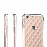 Wholesale Cell Phone Cases Bulk - TPU Clear Bulk Iphone Cases Airbag 6s Plus Iphone Case Crashproof Design Transparent Iphone 5s Cell Phone Cases