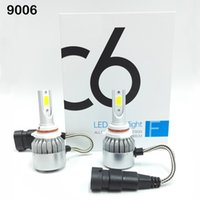 Wholesale H7 H11 Led Bulbs - C6 2pcs Car Headlights 72W 7600LM Led Light Bulbs H1 H3 H7 9005 9006 H11 H4 H13 9004 9007 Automobiles Headlamp 6000K Fog Lamps