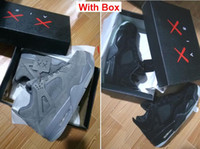 Wholesale Snakeskin Pcs - KAWS x Air 4 Retro XX Kaws Cool Kaws Black Suede Grey White Glow Best Quality With Box White Blue black Wholesale Basketball Shoes Men