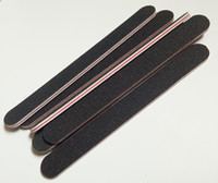 Wholesale red nail file - Wholesale- 5pcs set black sandpaper with RED heart nail file 180 240 Professional Art Nail File Grit For Manicure Natural Nails free shippin