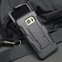 Hot Sale Samsung Armor Phone Case com Hard Plastic Belt Clip Holster Rugged Cell Phone Case Para Samsung Galaxy S5 S6 S7 S8 Edge Note 7