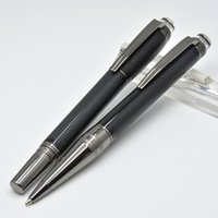 brosses d'écriture achat en gros de-Stylo à bille en résine gris et noir avec surfaces brossées et accessoires revêtus PVD Le cadeau des stylos à bille MB