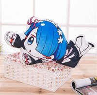 Wholesale Start Toys - RE. starts from scratch Different world Plush pillow Rem lahm Two-sided Plush Doll 16 years of new animation plush toys