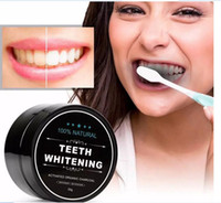 Wholesale Tooth Whitening Nature Bamboo Activated Charcoal Smile Powder Decontamination Tooth Yellow Stain Bamboo Toothbrush Toothpaste Oral Care A08