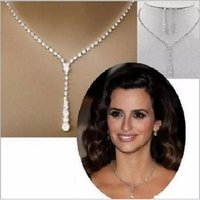 Wholesale Rhinestone Bridal Jewellery Set - 2017 Bridal Jewelry Crystal Rhinestones Bride Wedding Jewellery Sets Prom Sparky Necklace Drop Earrings Bridal Accessories