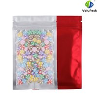 Wholesale Wholesale Waterproof Zip Bags - 8.5x13cm (3.25x5in) Clear  Silver  Red waterproof Heat Sealing Aluminum Foil Mylar Zip Lock Storage Package Bag 100pcs