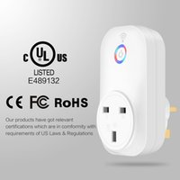 Wholesale Wireless Outlet Plug - 1PIECE! Smart Socket Wifi Power Plug EU,US,UK Plug With CE ROHS FCC Outlet Switch Wireless Time Schedule Phone Remote Compatible with Phones