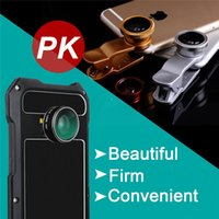 Wholesale Steel Phone Cases - Samsung S8 Armor Steel Cover Waterproof Aluminum Alloy Ultra-Thin Phone Cases Metal Cellphone Case with Camera Lens for S8+