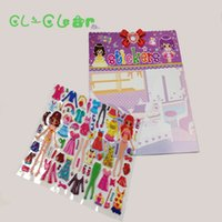 Wholesale Good Jigsaw - Girls Change Clothes Dress-Up cute jigsaw,dress changing good fun toys 17*18cm