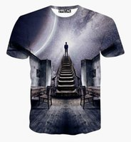 Wholesale Universe Shorts - Newest design Men Women's galaxy space t Shirt print see the universe 3D t-shirt summer harajuku creative tee shirt blouse