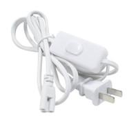 ingrosso stock switch-Connettore LED T8 T5 cavi di alimentazione a doppia estremità con interruttore Spina US per luci connettore a LED integrato