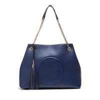 Wholesale Handbags Name Brands - 2017 New bags ladies handbags women shoulder bags MICHALE KALY luxury handbags brands names totes chain Lichee Pattern