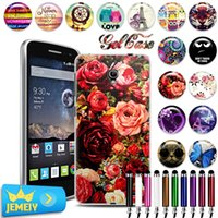 alcatel skin cover case 2018 - Wholesale- For Alcatel one touch Pop 2 4.5 M5 5042X 5042D 5042A 5042W 5042 Case TPU Gel Back Cover Soft Silicone Bag Print Phone Cases Skin