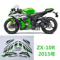 Wholesale Ninja Headlight - Motorcycle high quality 3M sticker fit for 2015year -Kawasaki-Ninja-ZX-10R-30th-Anniversary-