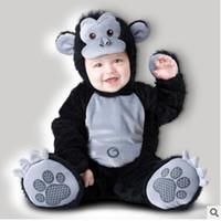 Wholesale Toddlers Leopard Costume - Infant Romper Baby Boys Girls Jumpsuit New born Bebe Clothing Hooded Toddler Baby Clothes Cute Romper Baby Costumes