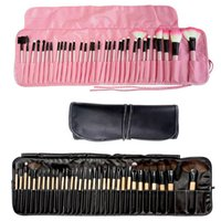 Wholesale Cheapest Makeup Brush Set - Cheapest Cosmetic Brush set 32pcs 24pcs 18pcs 4 Colors Synthetic Makeup Brush Kits makeup brushes tools facebrush and eyebruse