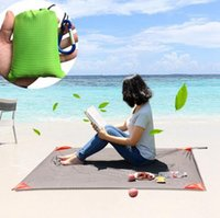 Wholesale folded picnic mat resale online - 140 CM Camping Folding Picnic Mat Portable Pocket Compact Garden Moistureproof pad Blanket Waterproof Ultralight Outdoor OOA2382