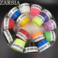 Wholesale Sticky Grip - Wholesale- 60 pecs lot ZARSIA sticky Pro Overgrip tennis grip perforated Badminton Grip tennis overgrips tennis product