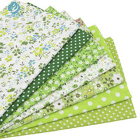Wholesale Wholesale Fabric For Baby Bedding - 7pcs Green 100% Cotton Quilting Fabric for DIY Sewing Patchwork Kids Bedding Bags Tilda Doll Baby Cloth Textiles Fabric 50*50cm