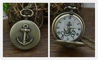 Wholesale Gray Pocket Watch - Retro Bronze Potter Hogwarts Theme Quartz Pocket Fob Watches with Necklace Chain Harry Necklace for Friendship Jewelry